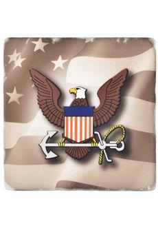 Navy Emblem Coaster