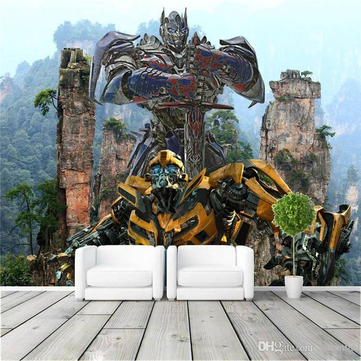 3D Custom Large Size Transformers Photo Wallpaper Optimus