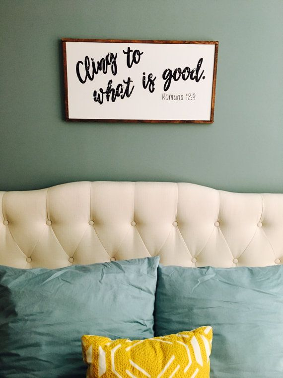 Cling to what is good  Romans 12:9  custom by sureandsimpleco