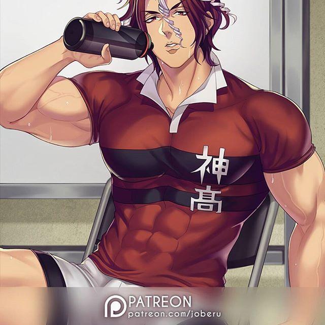 Unlock Uncensored NSFW/sequences + more on my Patreon!  Link in my bio (๑ ิټ ิ) I will be focusing on drawing bara there.  #sekizan #allout #muscle #bara #ikemen #fanart #animeartist #reward #sekizantakuya #sekizanallout #sportsanime #abs #wet #tired #rugby #seme #uke #seme #guy #hot #sweaty #nsfw #patreon #patreonreward