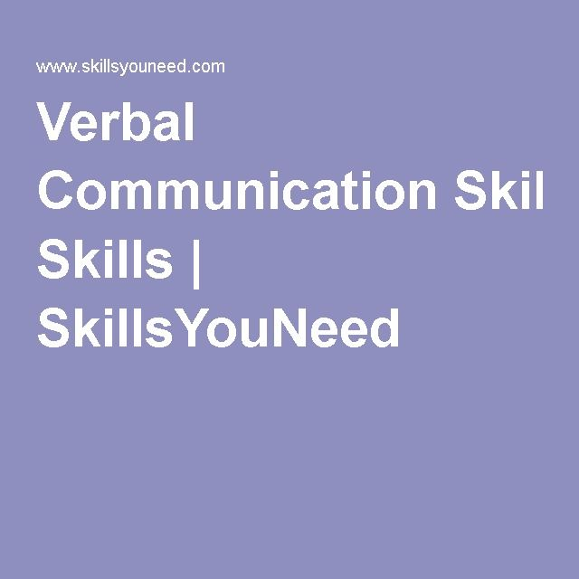 Formal Communication: Provides verbal communication skills including; open communication, reinforcement and effective listening