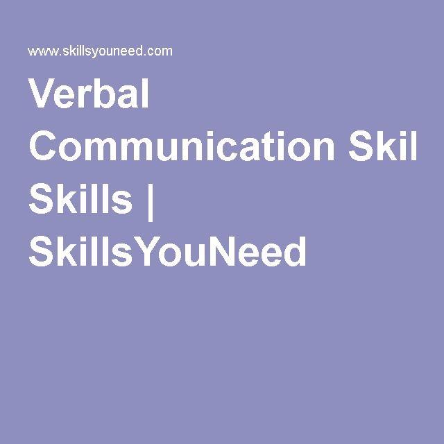 Improving verbal communication