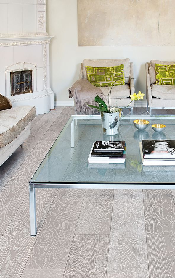 The perfect couple of grey and white, Oak parquet SILVER, brushed wax oiled. www.timberwiseparquet.com  Harmaan ja valkoisen täydellinen liitto, Tammiparketti SILVER, harjattu öljyvahattu. www.timberwiseparketti.fi