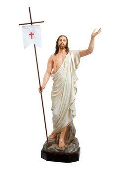 Gesù risorto cm. 165 altezza cm. 165 in vetroresina dipinto con colori acrilici e finiture ad olio disponibile anche con occhi di vetro  http://www.ovunqueproteggimi.com/collezione-statue/ges%C3%B9/risorto/