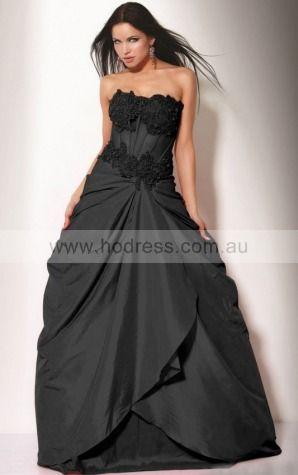Ball Gown Strapless Floor-length Taffeta Natural Formal Dresses gt0895--Hodress