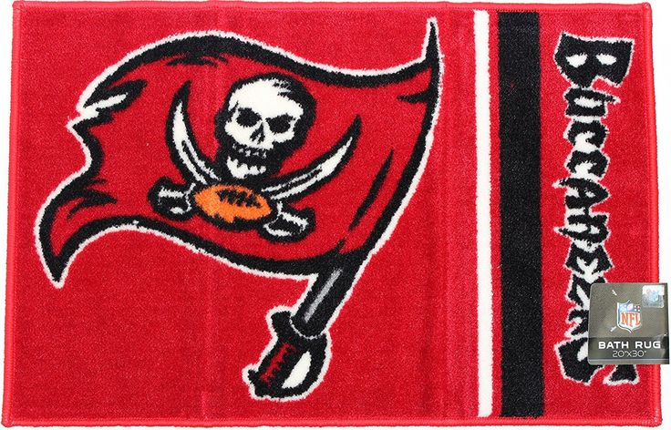 Tampa Bay Buccaneers 20 x 30087918669192 Rug * Final call for this special discount  : Area Rugs, Runners Pads