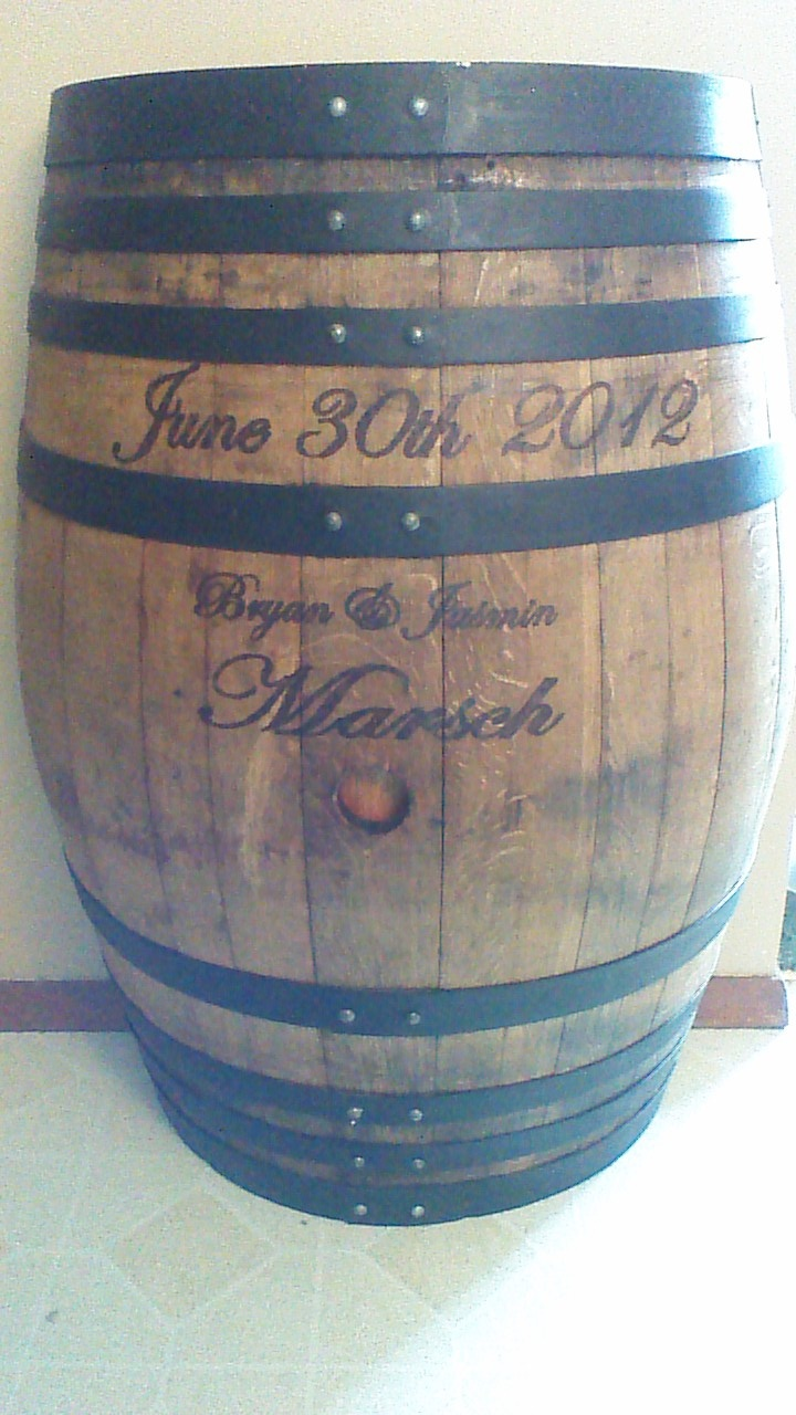 My Husband Took This Wine Barrel And Stained Painted It