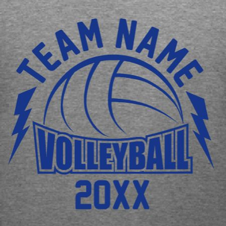 Volleyball Team custom t-shirt template. Personalize with your team name and dates in our custom t-shirt design studio. We print and ship in 10-days or less.