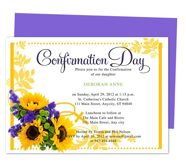 Chastity printable catholic confirmation invitations for Free printable confirmation invitations template