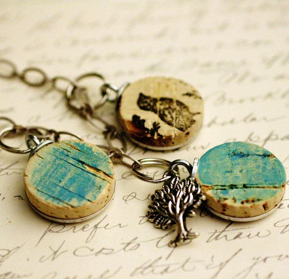 Wine cork necklace! by uncorked on etsy
