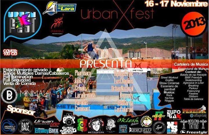 Cresta Metálica Producciones » URBAN X FEST 2013 este 16 y 17 de noviembre en Barquisimeto!!!