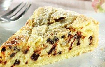 crostata mascarpone e gocce di cioccolato