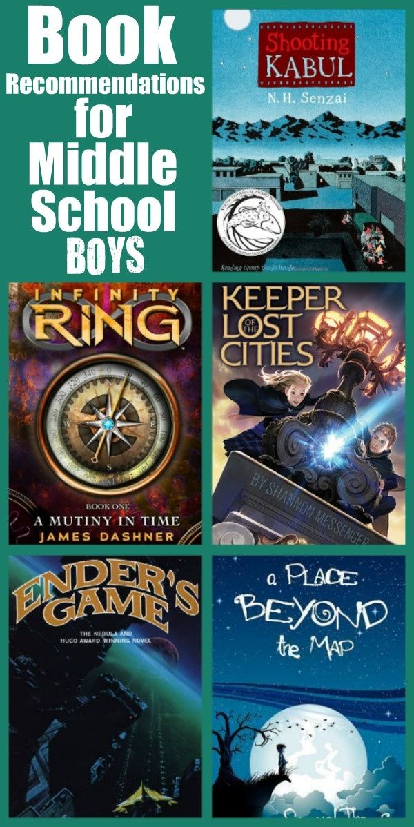 Book Recommendations for Middle School Boys (one day I will need this list!)