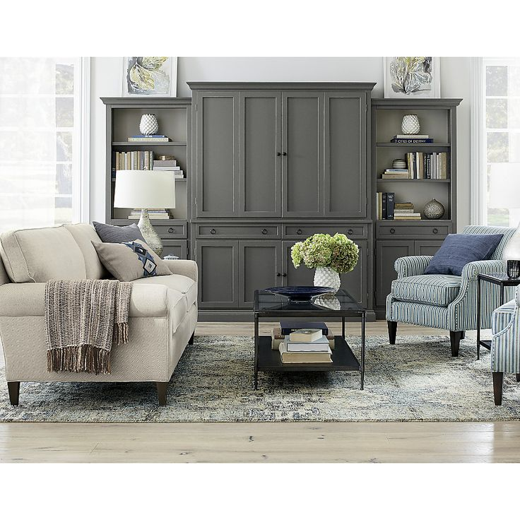 Shop Montclair 2-Seat Sofa Cream Rolled Arm Sofa.   Soft but supportive cushions are upholstered in a subtly textured cotton-linen fabric detailed with smart self-welting for a crisp, fresh finish.  Montclair 2-Seat Sofa is a Crate and Barrel exclusive.