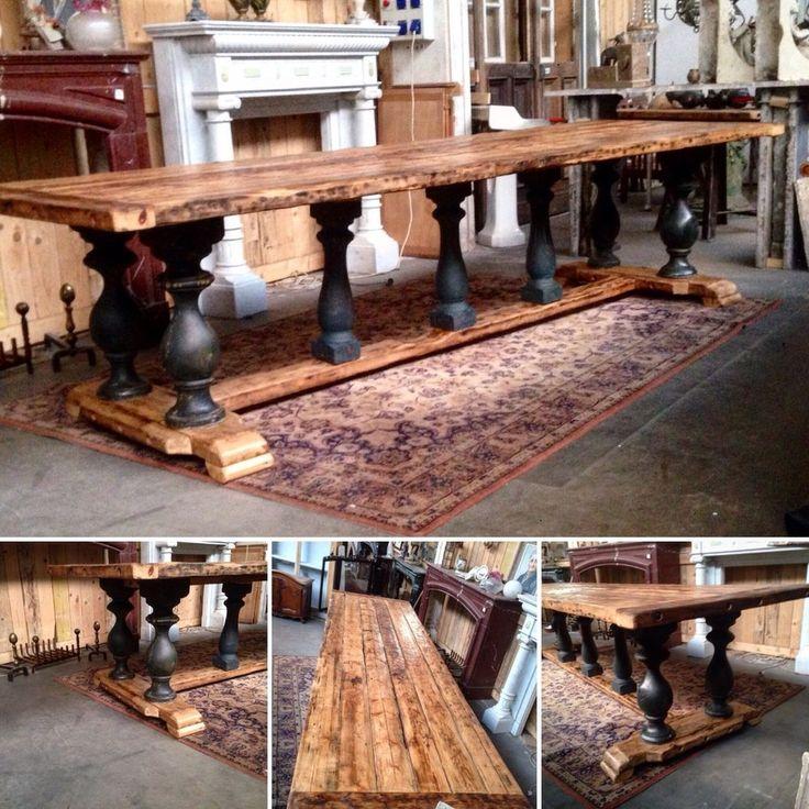 table de monast re en sapin massif pi tement en h pieds balustre xx si cle decoration int rieur. Black Bedroom Furniture Sets. Home Design Ideas