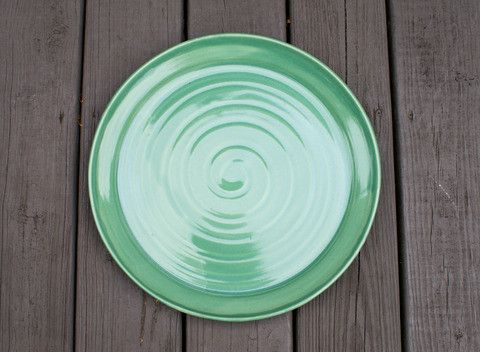Beautiful handmade one of a kind large platter for only$80. Available from Off Your Rocker Pottery.