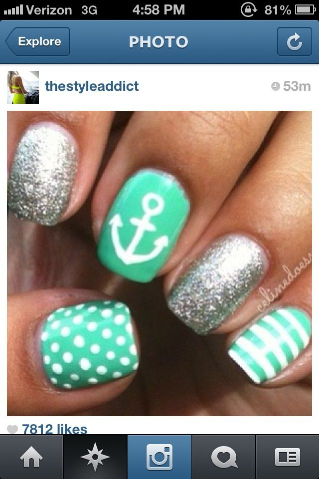 The 25 best sailor nails ideas on pinterest nautical nails sailor nails prinsesfo Image collections
