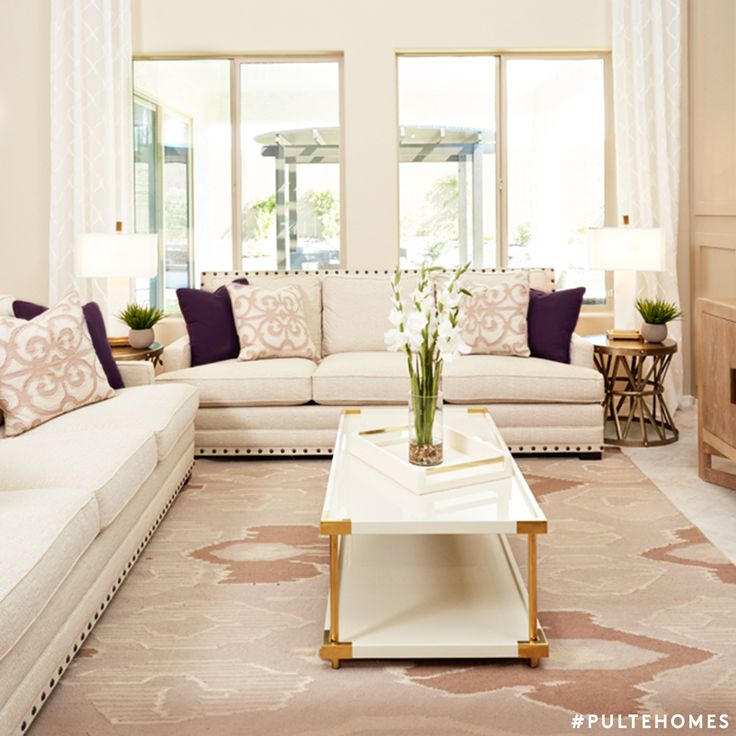 Pairing Rose Quartz with metallic accents gives an organic feel to this peaceful space and sets a calming tone overall. | Pulte Homes