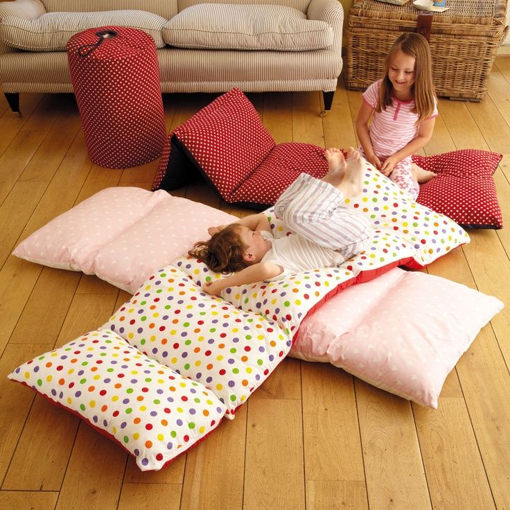 Sew 5 pillowcases together and fill with pillows. Why haven't I thought of this before?!