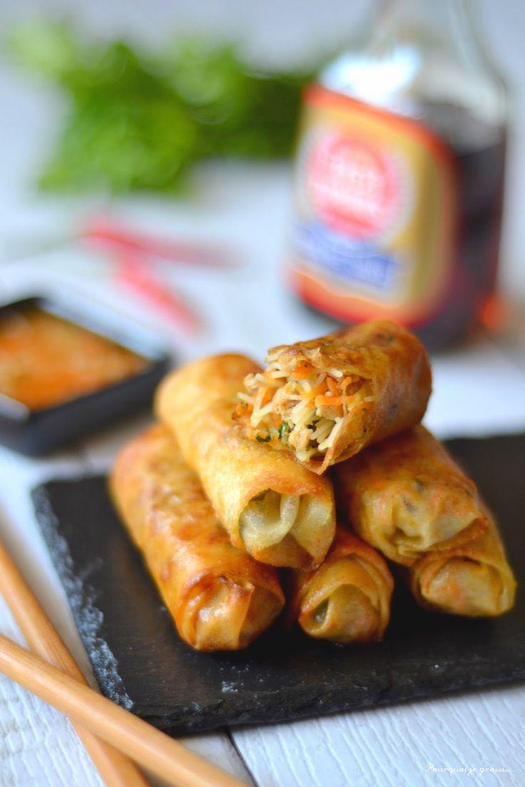 Pourquoi je grossis ... : Salade som tam à la thaïlandaise & nems à la vietnamienne ! (Asian Week 2/4)