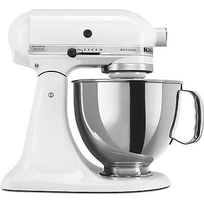 KitchenAid RRK150WH White 5-quart Artisan Stand Mixer (Refurbished) - RRK150WH in Home & Garden,Kitchen, Dining & Bar,Small Kitchen Appliances | eBay