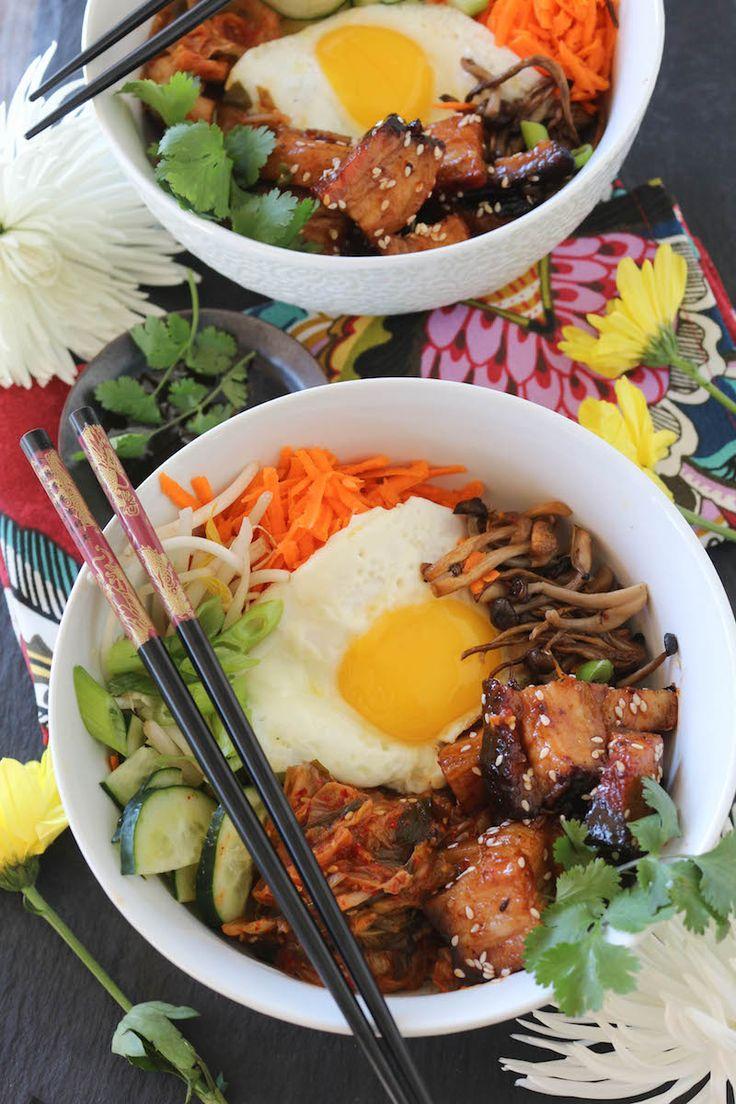 Paleo Pork Belly Bibimbap; Paleo Korean Cuisine Recipe