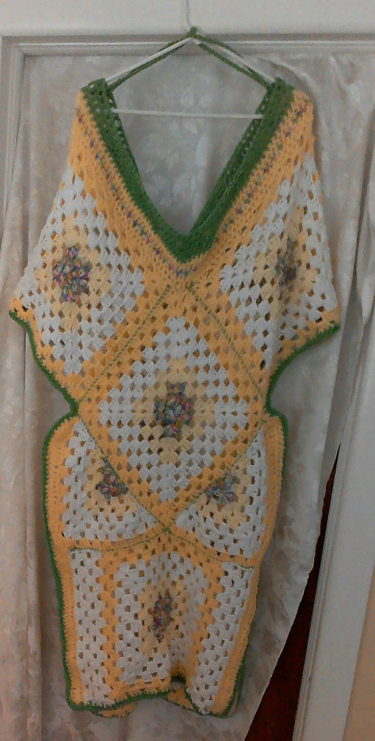 Granny Square Beach Cover Up by DEyreExpressions on Etsy Ponchos ...