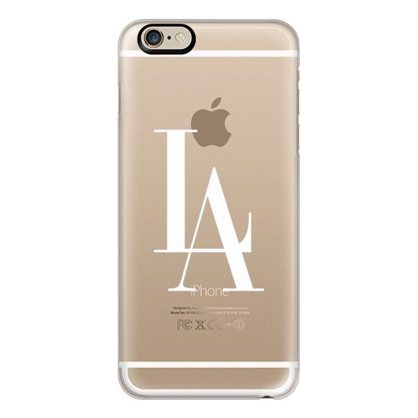 iPhone 6 Plus/6/5/5s/5c Case - LA Los Angeles White Transparent... (280 HRK) ❤ liked on Polyvore
