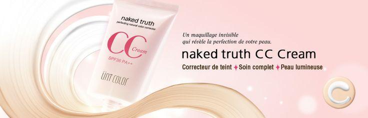 UNT Skincare | Maquillage | NAKED TRUTH CC CREAM SPF 36 PA++ | Correcteur de teint couleur parfaite
