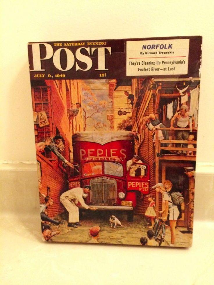Vtg. Jigsaw 1949 Saturday Evening Post 500 pc Norman Rockwell Traffic Conditions #Springbok