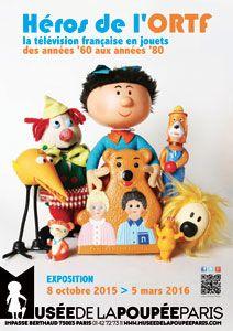 Héros de l'ORTF - la télévision française en jouets des années '60 aux années '80 - Le musée de la poupée