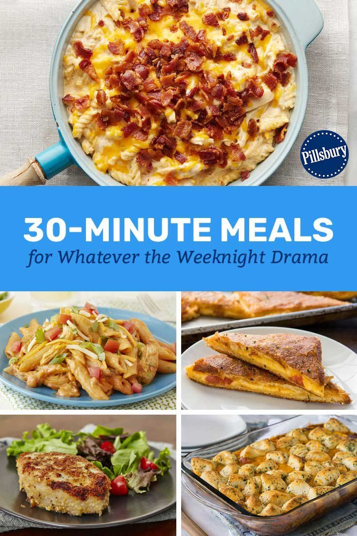30 Minute Meals For Whatever The Weeknight Drama Meals Dinner Prep Quick Meals