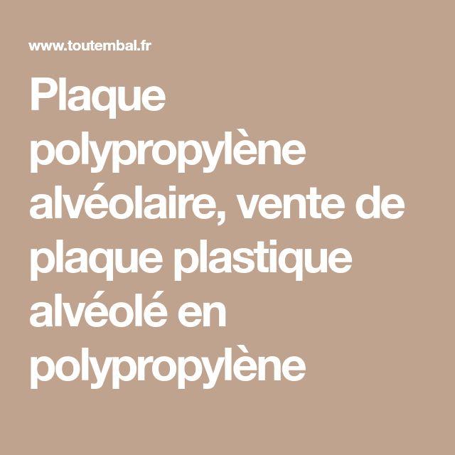 Plaque polypropylène alvéolaire, vente de plaque plastique alvéolé en polypropylène