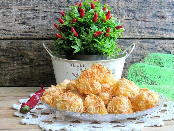Рецепт цветной капусты в сырном кляре в духовке