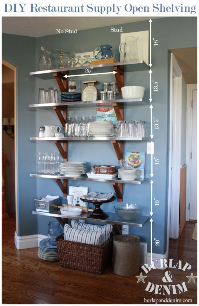 The Benefits Of Open Shelving In The Kitchen: DIY Open Shelving In The Kitchen