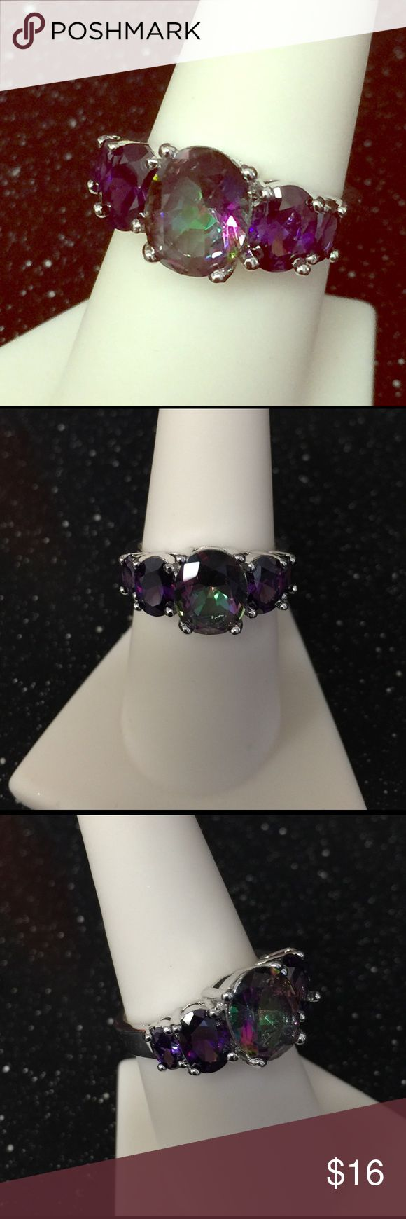 .🌷MAY SALE 🌷.925 Mystic Topaz sz 7 NEW *Boutique item, liquidation. This is how I pass the savings on to you.  .925 Sterling Silver.  New. Jewelry Rings