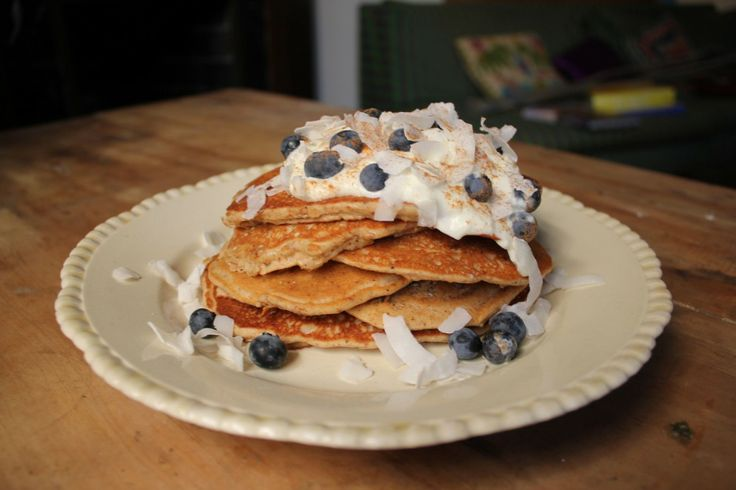 I Quit Sugar recipe for delicious and clean protein pancakes.