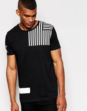 ASOS – T-Shirt mit Flaggenprint und Skater-Print