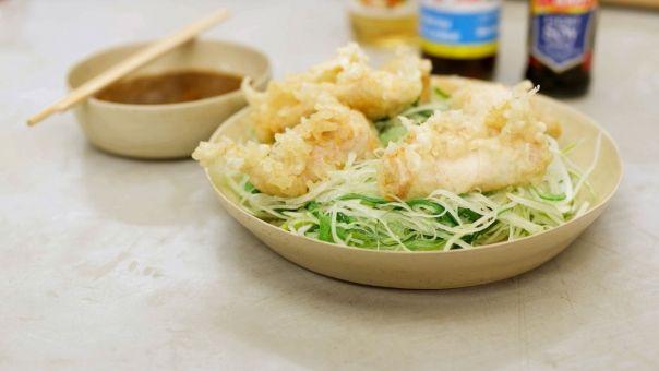 Eén - Dagelijkse kost - tempura van kip met een Japanse dressing