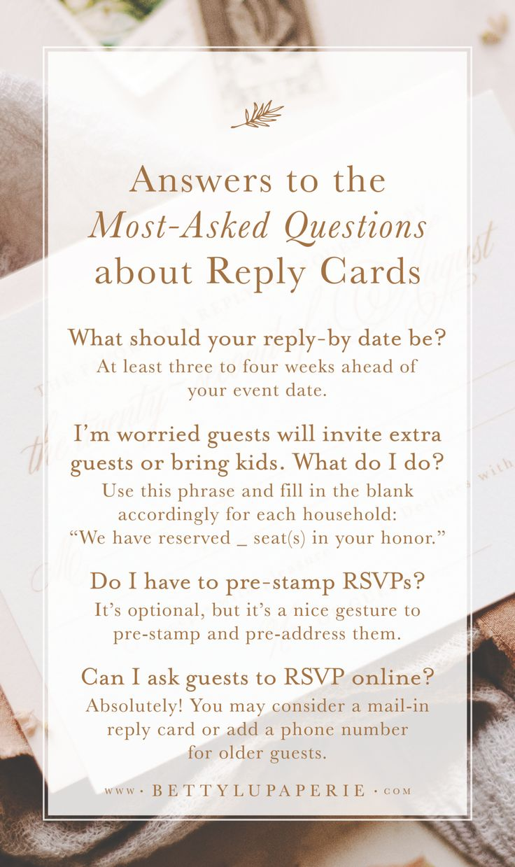 Wedding RSVP Card Wording Wedding invitation hacks