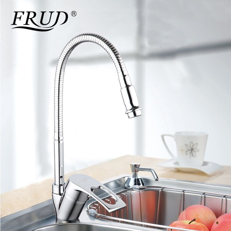 Frud Solid <b>Kitchen Mixer Cold</b> and Hot flexible <b>Kitchen Tap</b> Single ...