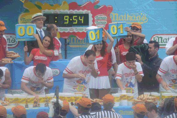 Here's Joey Chestnut Eating 61 Hot Dogs in a Single GIF | Village Voice  Why not?
