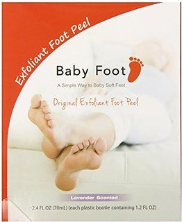 Baby Foot Exfoliant Foot Peel Lavender Scent 2.4 Fl OZ (70mL) - Pack of 2.