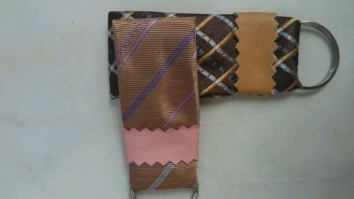 Keychain made of repurposed ties #fabrickeychain #almanogr