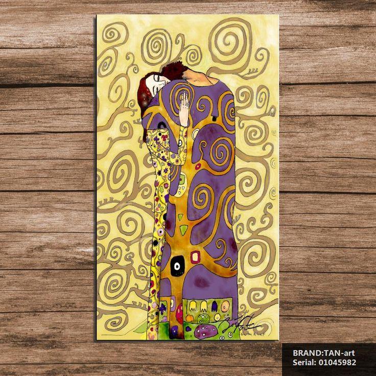 Огромный Густав КЛИМТ ХОЛСТ WALL ART decor плакат Поцелуй картина маслом печать на холсте бесплатная отправка Портрет Classical01045982(China (Mainland))