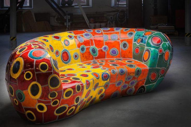 GARDEN - ceramic sofa for private investor's property