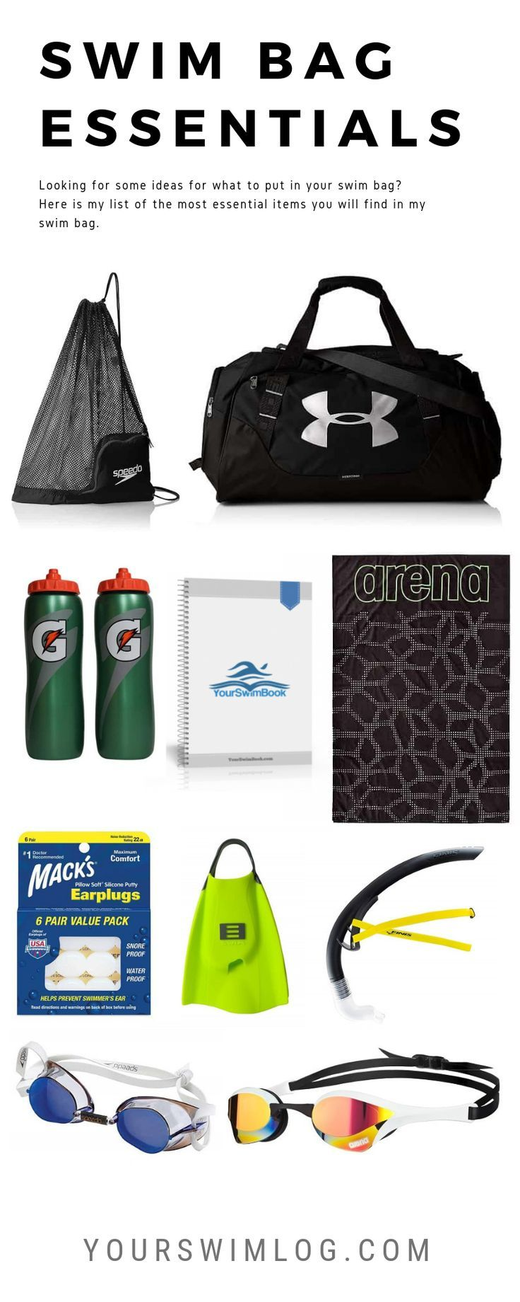 11 Swim Bag Essentials For Competitive Swimmers Swimming Bag Swimming Workout Swimming Equipment