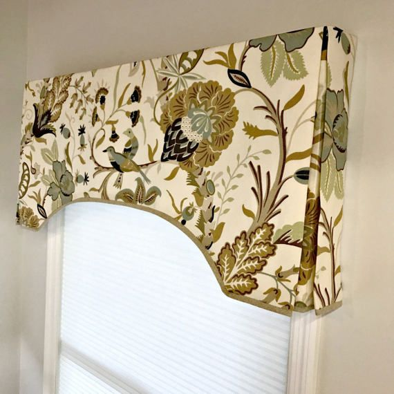 This Arch Top Box Pleat Valance Is A Classic Style That