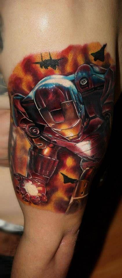 Tatuaje de Ironman.