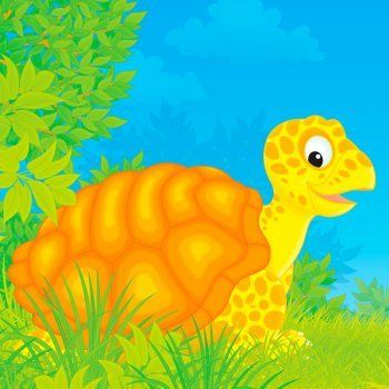 Mitología griega para niños. Hermes es un dios travieso que inventa la lira gracias a una tortuga. Leyendas cortas de la mitología adaptadas a los niños.